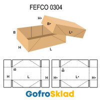 Короб FEFCO 0304 с перфорацией