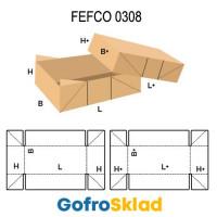 Короб FEFCO 0308 с перфорацией, со склейкой