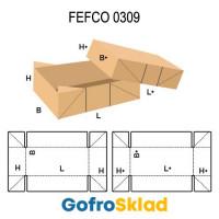 Короб FEFCO 0309 с биговками на углах