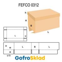 Короб FEFCO 0312 с обечайкой и клапанами внахлест