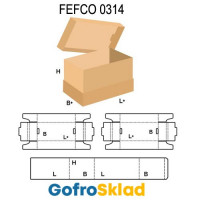 Короб FEFCO 0314 с вертикальной обечайкой