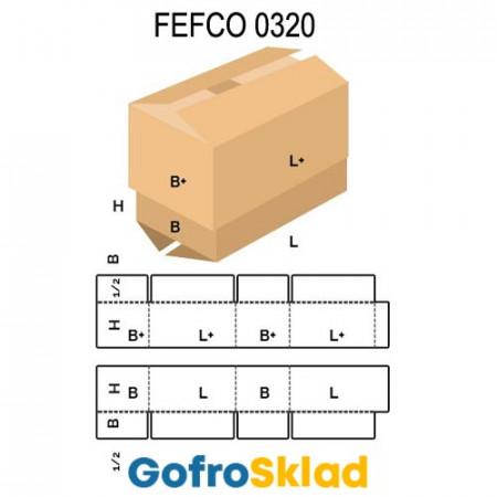 Короб FEFCO 0320 c равновеликими крышкой и дном