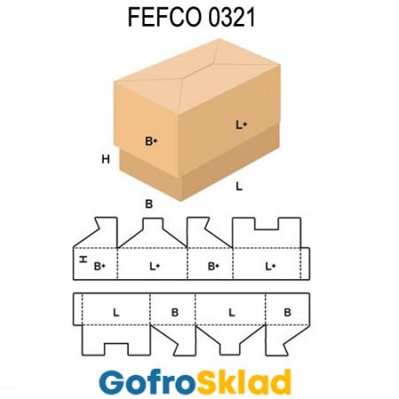 Короб FEFCO 0321 с боковой склейкой
