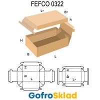 Короб FEFCO 0322 с двойными бортами