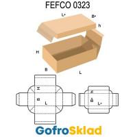 Короб FEFCO 0323 с складными корпусом и крышкой