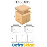 Короб FEFCO 0325  с обечайкой и двойными бортами