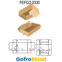 Короб FEFCO 0330 с замками на дне
