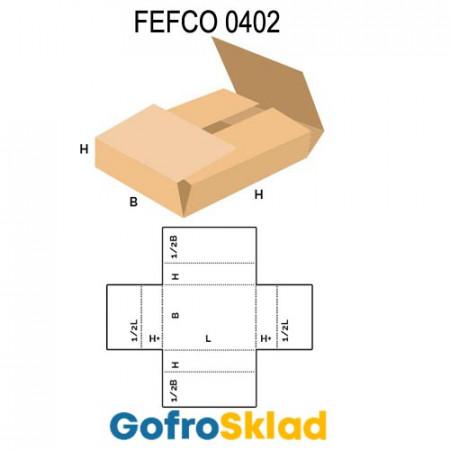 Короб FEFCO 0402 оберточного типа со стыкующимися клапанами