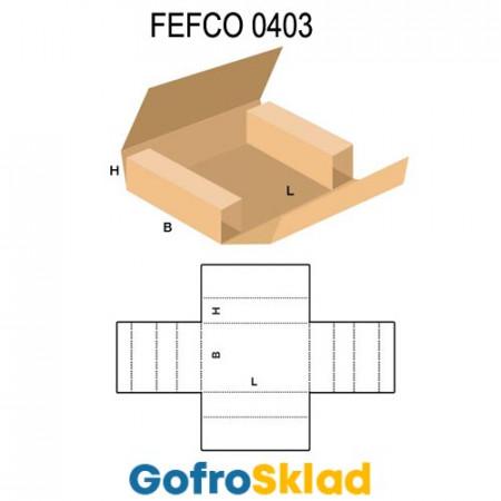 Короб FEFCO 0403 оберточного типа для плоских изделий