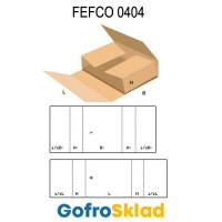Короб FEFCO 0404 оберточного типа из двух гофрозаготовок