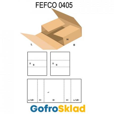 Короб FEFCO 0405 оберточного типа из 3 гофрозаготовок