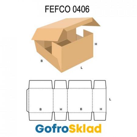 Короб FEFCO 0406 оберточного типа с внешней склейкой клапанов