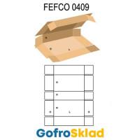 Короб FEFCO 0409 оберточного типа с 5 клапанами на торцах