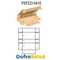 Короб FEFCO 0410 оберточного типа с 4 торцевыми и угловыми клапанами
