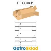 Короб FEFCO 0411 оберточного типа  с боковой и верхней загрузкой