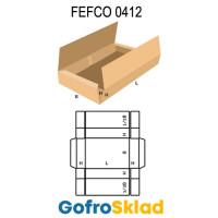 Короб FEFCO 0412 оберточного типа с двумя верхними клапанами