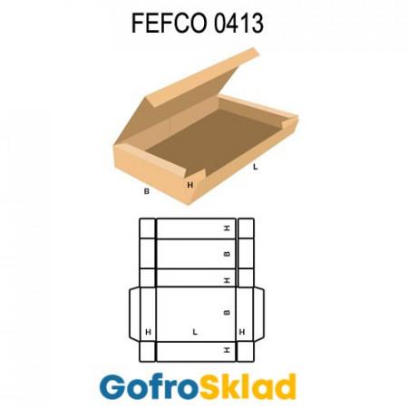 Короб FEFCO 0413 оберточного типа с откидной крышкой