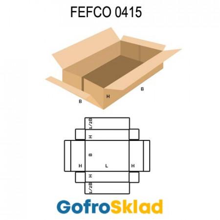Короб FEFCO 0415 оберточного типа со стыкующимися посередине клапанами