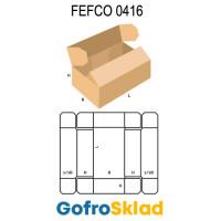 Короб FEFCO 0416 оберточного типа с откидными клапанами