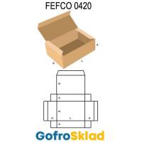 Короб FEFCO 0420 оберточного типа с откидной крышкой и загибающимися краями