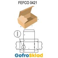 Короб FEFCO 0421 оберточного типа  с откидной крышкой и тройными боковыми стенками