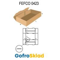 Короб FEFCO 0423 оберточного типа с замками на дне