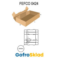Короб FEFCO 0424 усиленный с замками на дне