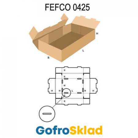 Короб FEFCO 0425 с усиленными бортами по кругу