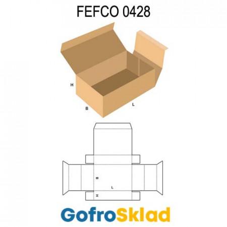 Короб FEFCO 0428 с откидной крышкой