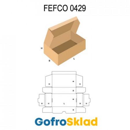 Короб FEFCO 0429 оберточного типа усиленный с откидной крышкой