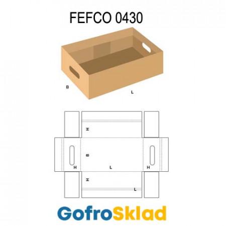Короб FEFCO 0430 оберточного типа с прорезями для рук