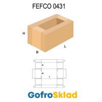 Короб FEFCO 0431 оберточного типа с частично открытым верхом