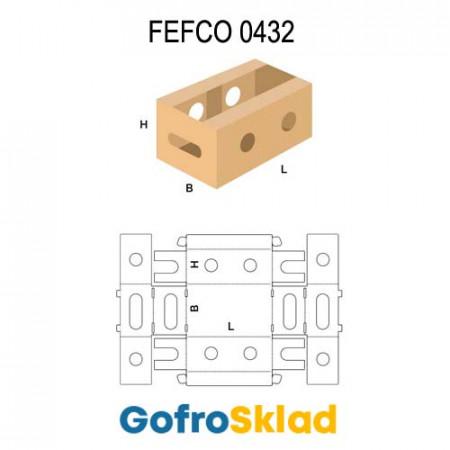 Короб FEFCO 0432 оберточного типа для овощей