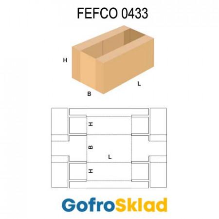 Короб FEFCO 0433 оберточного типа для овощей и фруктов