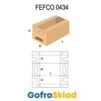 Короб FEFCO 0434 оберточного типа с прорезными ручками