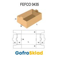 Короб FEFCO 0435 оберточного типа с отверстиями для укладки