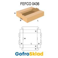 Короб FEFCO 0436 оберточного типа с пазами для штабелирования