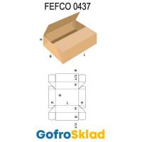 Короб FEFCO 0437 оберточного типа со стыкующимися клапанами