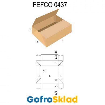 Лоток FEFCO 0437 оберточного типа со стыкующимися клапанами