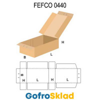 Короб FEFCO 0440 с прорезями для опломбирования