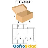 Короб FEFCO 0441 с откидной крышкой и сплошным дном