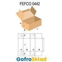 Короб FEFCO 0442 с замковыми соединениями на торцах