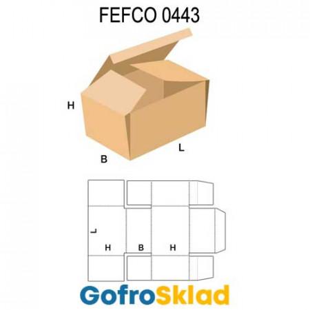 Короб FEFCO 0443 с загнутыми внутрь боковыми клапанами