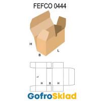 Короб FEFCO 0444 с загнутым краем на крышке