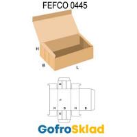 Короб FEFCO 0445 с замковыми соединениями на торцах