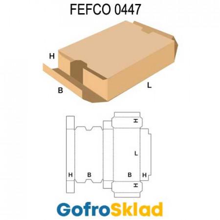 Короб FEFCO 0447 с двумя торцевыми откидными крышками