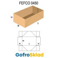 Короб FEFCO 0450 со склейкой боковых стенок