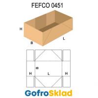 Короб FEFCO 0451 со сплошным дном и усиленными стенками