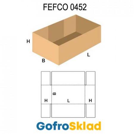 Короб FEFCO 0452 со склейкой по длине и сплошным дном
