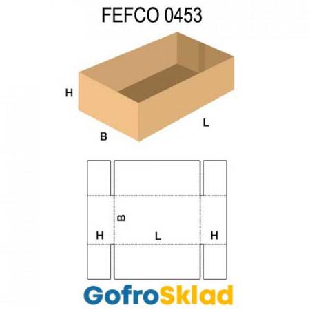 Короб FEFCO 0453 со склейкой по ширине и сплошным дном